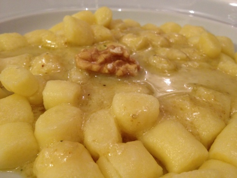 Gnocchi with Walnut Sauce